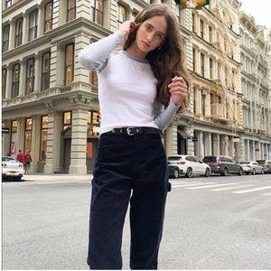 Brandy Melville Bennett pants - black Corduroy